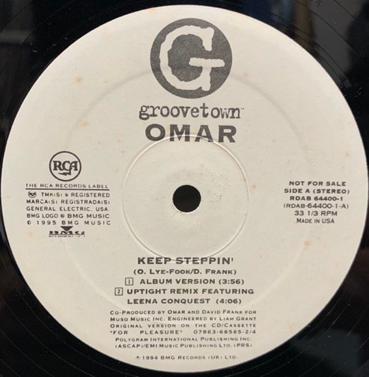 OMAR / KEEP STEPPIN' (95 US PROMO ONLY)