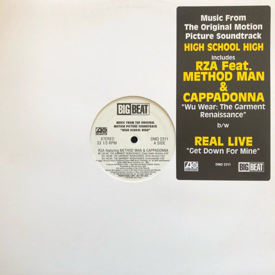 RZA / WU-WEAR: THE GARMENT RENAISSANCE b/w REAL LIVE / GET DOWN FOR MINE (96 US PROMO )