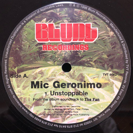 MIC GERONIMO / UNSTOPPABLE ( 96 US PROMO ONLY )