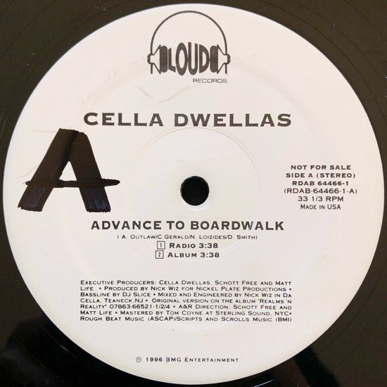 CELLA DWELLAS / ADVANCE TO BOARDWALK (96 US PROMO ONLY)