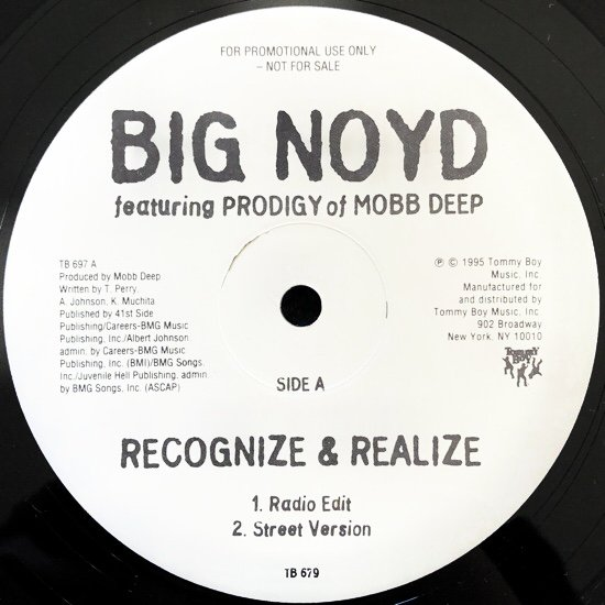 BIG NOYD / RECOGNIZE & REALIZE Feat Prodigy (1995 US PROMO ONLY RARE PRESSING)
