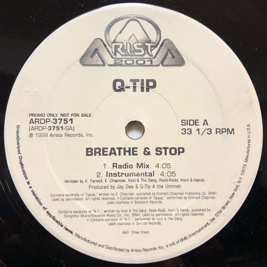 Q-TIP / BREATHE & STOP (99 US PROMO ONLY)