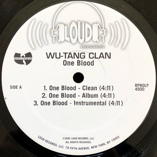 WU-TANG CLAN / ONE BLOOD b/w HOLLOW BONES (2001 US PROMO ONLY)