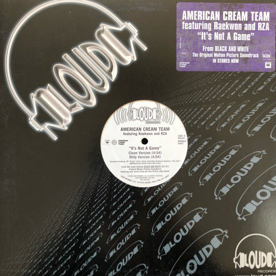 AMERICAN CREAM TEAM FEATURING RAEKWON AND RZA / IT'S NOT A GAME (2000 US PROMO ONLY)
