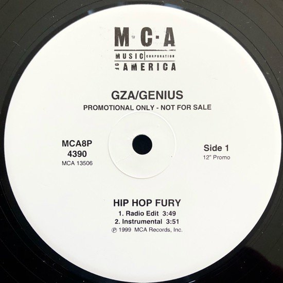 GZA / GENIUS / HIP HOP FURY (99 US PROMO ONLY)