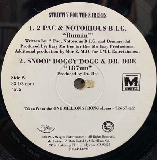 VARIOUS SNOOP DOGGY DOG & DR. DRE / ONE MILLION STRONG 187um (1995 US PROMO ONLY RARE PRESSING)