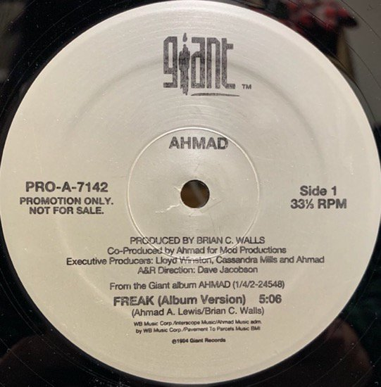 AHMAD / FREAK(94 US PROMO ONLY)
