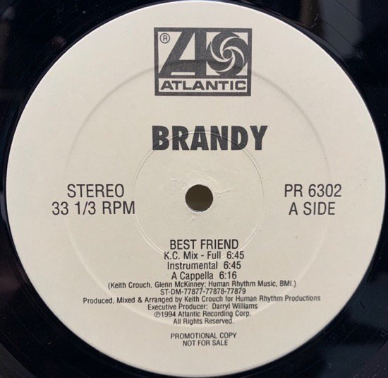 BRANDY / BEST FRIEND (REMIX)(94 US PROMO ONLY )