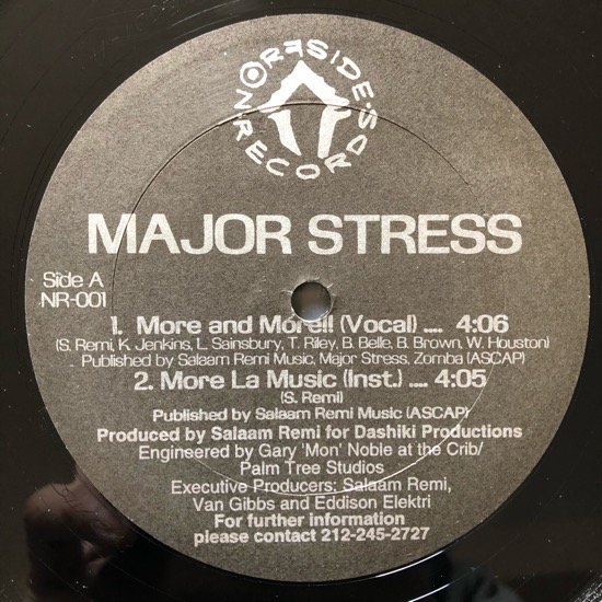 MAJOR STRESS / MORE  AND MORE b/w A DAY IN DA STUY(95 US ORIGINAL)