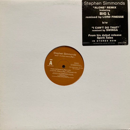 STEPHEN SIMMONDS / ALONE Feat Big L (Remix) (01 US ORIGINAL PROMO)