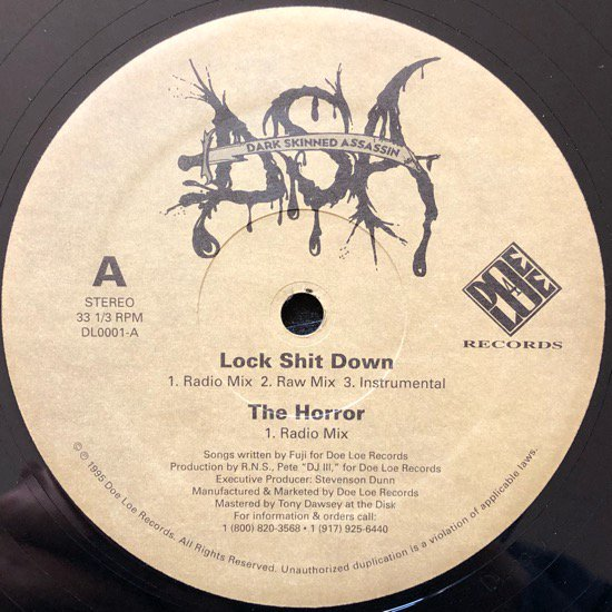 DARK SKINNED ASSASSIN / LOCK SHIT DOWN (1995 US ORIGINAL)