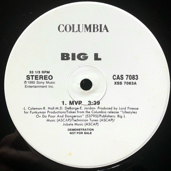 BIG L / MVP (95 US ORIGINAL PROMO ONLY)