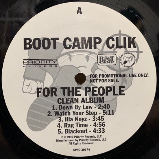 BOOT CAMP CLIK / FOR THE PEOPLE (1997 US PROMO ONLY SAMPLER EP)