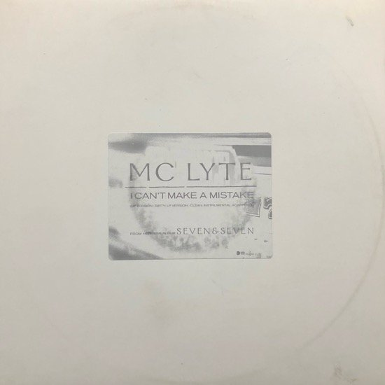 MC LYTE / I CAN'T MAKE A MISTAKE (PROMO)
