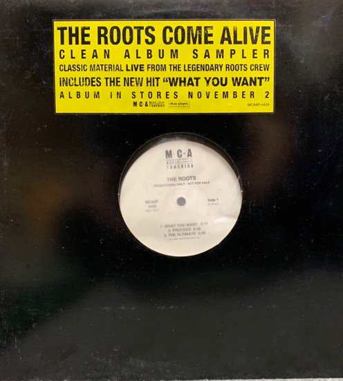 THE ROOTS / COME ALIVE (CLEAN ALBUM SAMPLER) (PROMO)