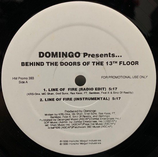 DOMINGO PRESENTS VARIOUS / BEHIND  THE DOORS OF  THE 13TH FLOOR (PROMO)