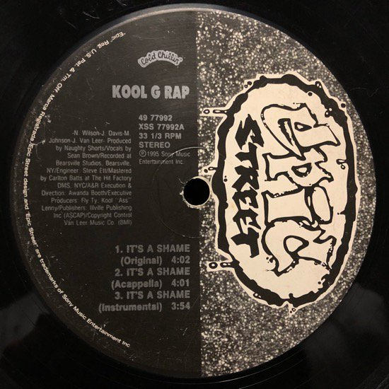 KOOL G RAP / IT'S A SHAME (95 US ORIGINAL )
