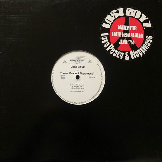 LOST BOYZ / LOVE, PEACE & NAPPINESS (97 US PROMO ONLY)
