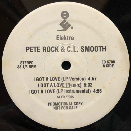 PETE ROCK & C.L. SMOOTH / I GOT A LOVE (PROMO)