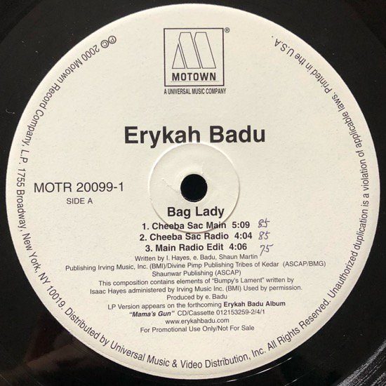 ERYKAH BADU / BAG LADY (PROMO)
