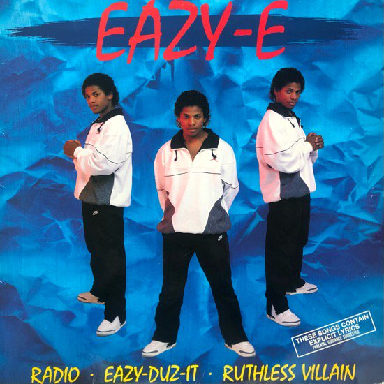 EAZY-E / EAZY-DUZ-IT / RUTHLESS VILLAIN b/w RADIO(1988 US ORIGINAL)