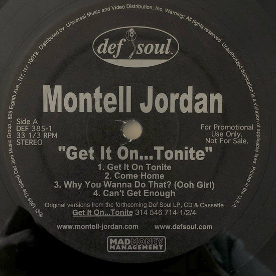MONTELL JORDAN / GET IT ON...TONITE (PROMO)