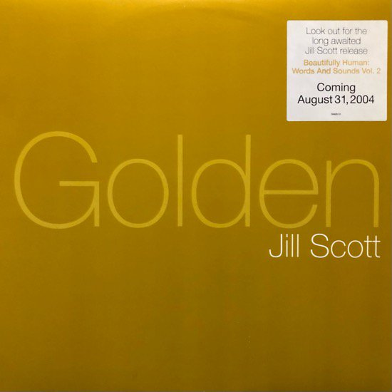 JILL SCOTT / GOLDEN (04 US ORIGINAL PROMO ONLY PRESSING)