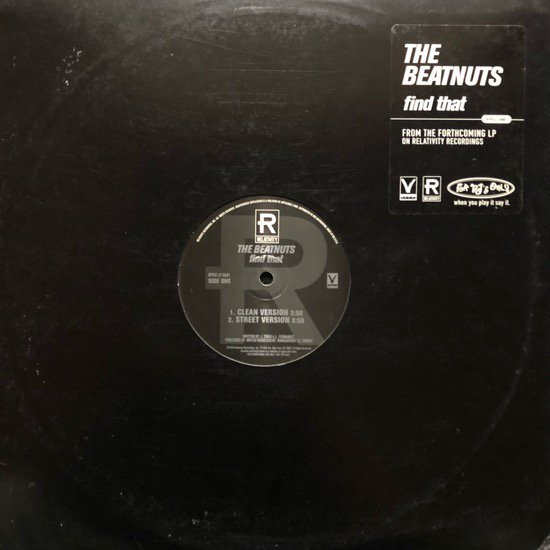 THE BEATNUTS / FIND THAT (1996 US ORIGINAL PROMO ONLY)