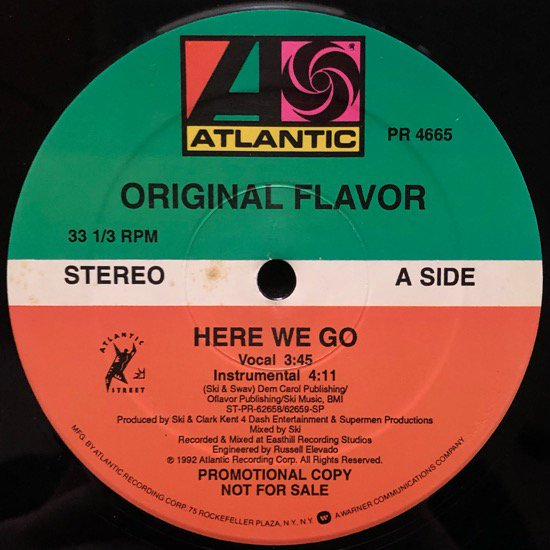 ORIGINAL FLAVOR / HERE WE GO (1992 US PROMO ONLY)