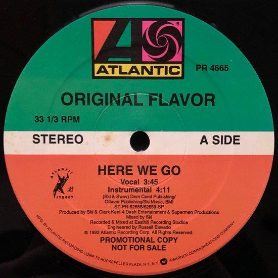 ORIGINAL FLAVOR / HERE WE GO (1992 US PROMO ONLY)