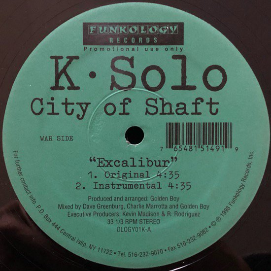 K-SOLO / CITY OF SHAFT (98 US ORIGINAL)
