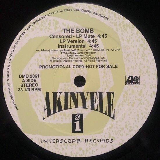 AKINYELE / THE BOMB (1993 US ORIGINAL PROMO)