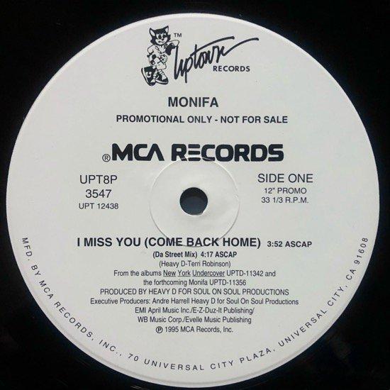 MONIFAH / I MISS YOU (COME BACK HOME)(US  PROMO)