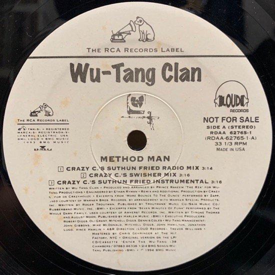 WU-TANG CLAN / METHOD MAN (CRAZY C REMIXES) (1994 US ORIGINAL PROMO ONLY)
