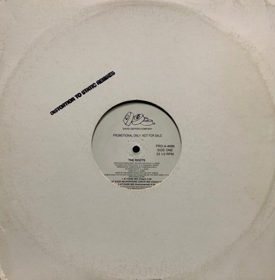 THE ROOTS / DISTORTION TO STATIC (REMIXES) (1994 US ORIGINAL VERY RARE PROMO ONLY)