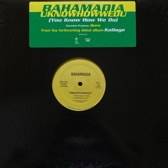 BAHAMADIA / UKNOWHOWWEDU (1995 US ORIGINAL PROMO)