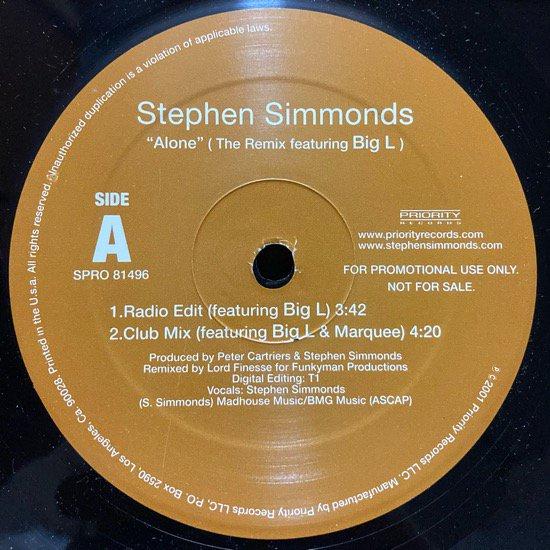 STEPHEN SIMMONDS / ALONE (01 US ORIGINAL PROMO)