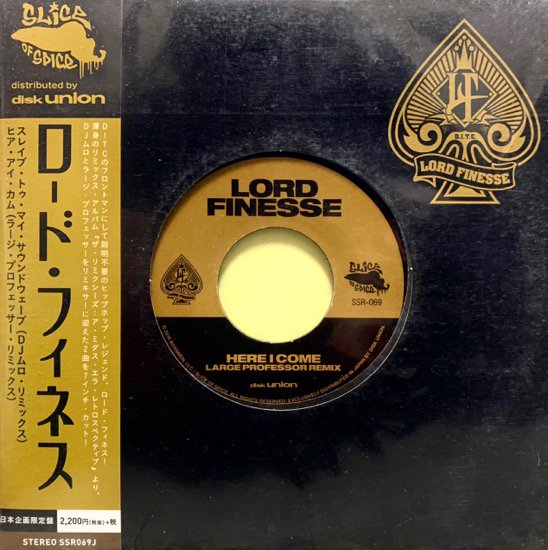 LORD FINESSE / SLAVE TO MY SOUNDWAVE (DJ MURO REMIX) b/w HERE I COME (LARGE PROFESSOR REMIX)