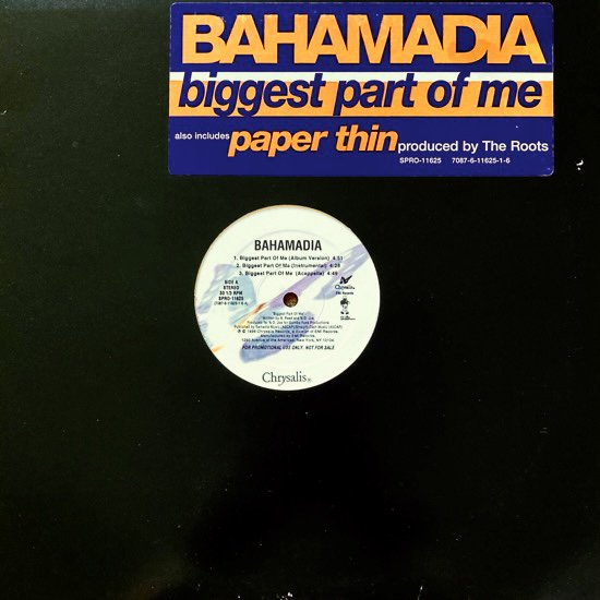 BAHAMADIA / BIGGEST PART OF ME (1996 US PROMO ONLY)