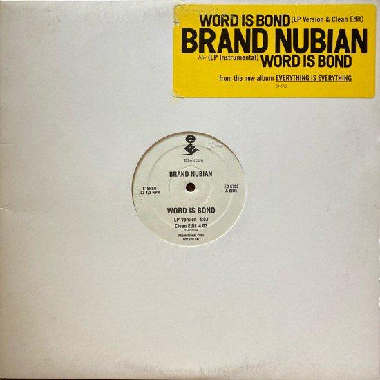 BRAND NUBIAN / WORD IS BOND (1994 US ORIGINAL PROMO)
