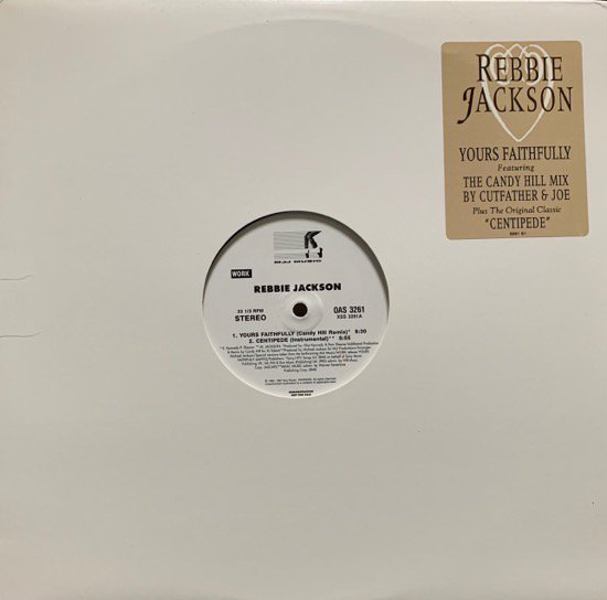 REBBIE JACKSON / YOURS FAITHFULLY b/w CENTIPEDE (1997 US PROMO ONLY)