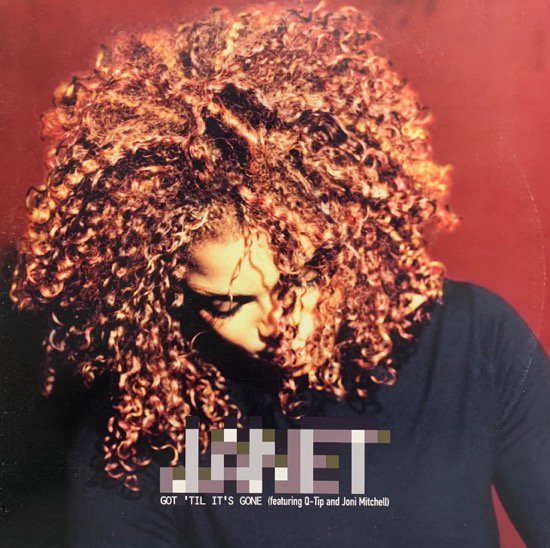 JANET FEATURING Q-TIP AND JONI MITCHELL / GOT 'TIL IT'S GONE (1997 US ORIGINAL PROMO ONLY W-PACK)