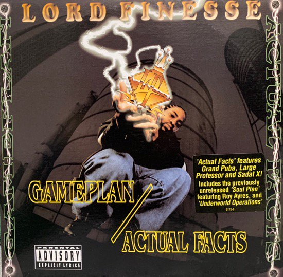 LORD FINESSE / GAMEPLAN b/w ACTUAL FACTS (1996 US ORIGINAL)