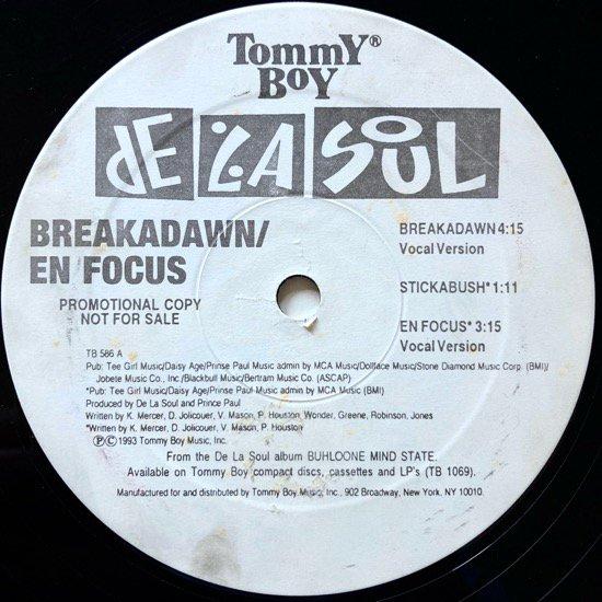 DE LA SOUL / BREAKADAWN b/w EN FOCUS (1993 US ORIGINAL PROMO)