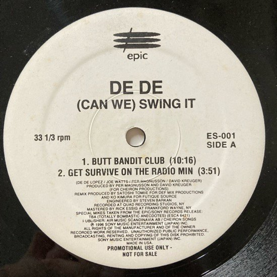 DEDE / (CAN WE) SWING IT (1996 US PROMO ONLY)