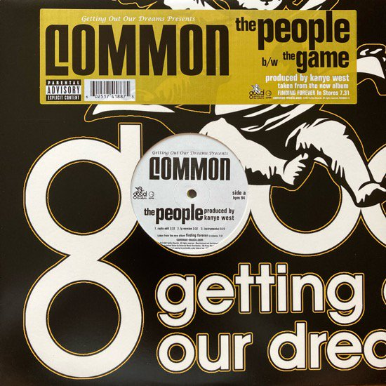 COMMON /  THE PEOPLE b/w THE GAME (2007 US ORIGINAL)
