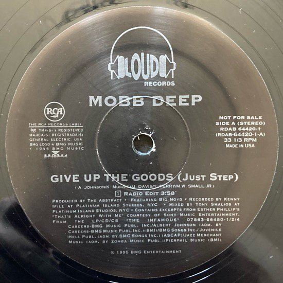 MOBB DEEP / GIVE UP THE GOODS (JUST STEP) (1995 US PROMO ONLY )