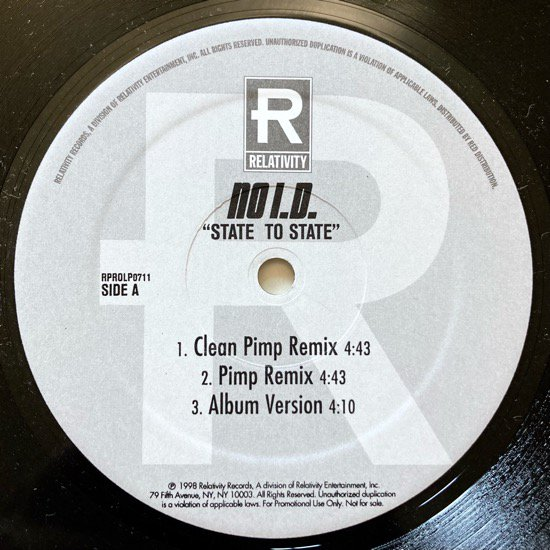 NO I.D. FEATURING COMMON AND DUG INFINITE / STATE TO STATE (REMIXES) (PROMO)