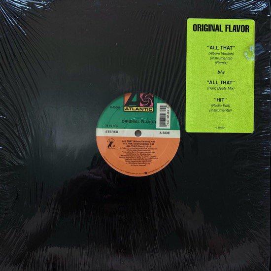 ORIGNIAL FLAVOR / ALL THAT (1993 US ORIGINAL)