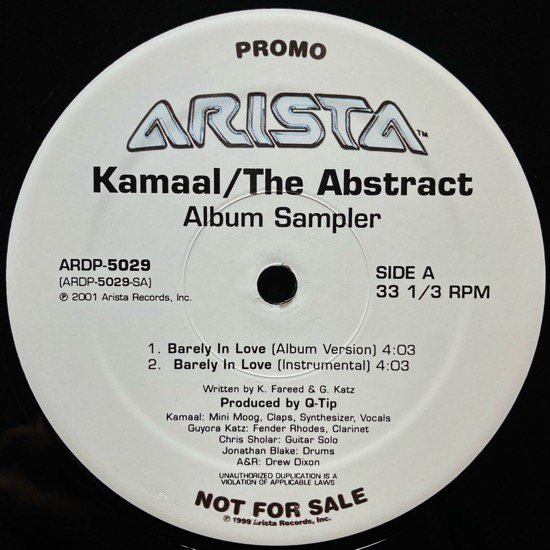 KAMAAL / THE ABSTRACT (ALBUM SAMPLER) (2001 US ORIGINAL PROMO ONLY)
